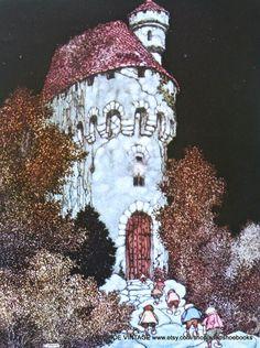 1921 Edmund Dulac, castle and dwarves
