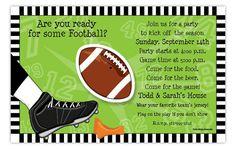Football Wiggler Invitation from Paper So Pretty