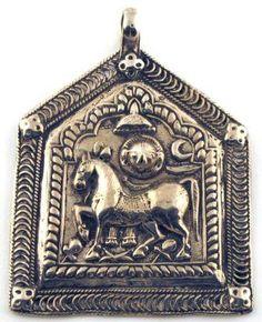 Antique Surya Sun and Horse Amulet Pendant 19th CENTURY SILVER GODDESS DURGA AND DUO BHERU BHAIRAVA FORM OF SHIVA AMULET...