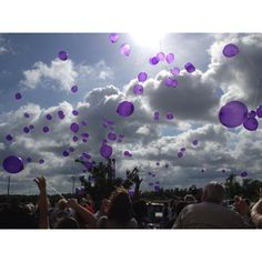 Purple balloon release!