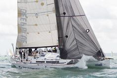 The Grand Soleil 43 yacht 'Quokka 8' racing in the Solent during Cowes Week 2013.