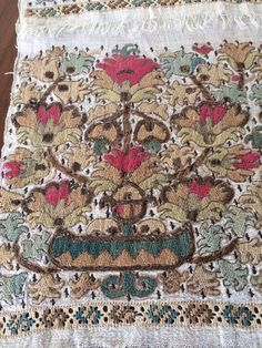 Items similar to century Antique Ottoman Turkish metallic and silk hand embroidered Towel on Etsy Hand Embroidery Patterns Free, Vintage Embroidery, Embroidery Art, Sewing Patterns Free, Free Sewing, Cross Stitch Embroidery, Turkey History, Ottoman, Embroidered Towels