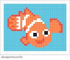 Finding Nemo perler bead pattern