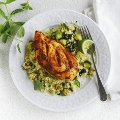 Gegrilde kip met courgettesalade | Weight Watchers