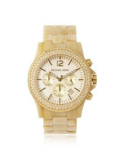 e8193ac6294a OFF Michael Kors Women s Madison Chronograph Horn Watch Must have Summer  watch!