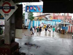 Water logged in the path between #ChennaiCentral and #ChennaiParkRailwayStation during #NorthEastMonsoon