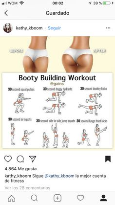 Fitness goals, fitness workouts, butt workout, at home workouts, fitness di Fitness Workouts, Summer Body Workouts, Gym Workout Tips, Fitness Workout For Women, Workout Challenge, Easy Workouts, Workout Videos, Fitness Motivation, Fitness Goals