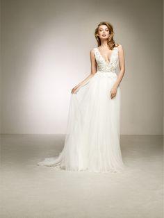 abito da sposa romantico effetto due pezzi