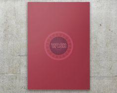 Wish  The Cure  Album Cover Art Minimalist por FlatMates en Etsy, $22.00