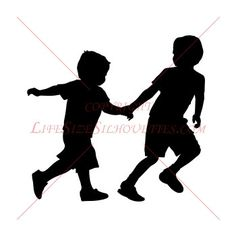 Boys Running Silhouette Decal 2 HIGH QUALITY by CustomSilhouettes