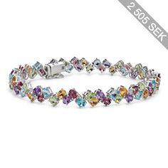Blue Nile Two Row Multicolor Gemstone Bracelet