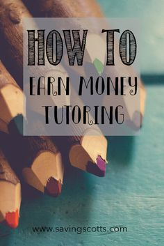 Tutoring can be a flexible way to earn money around your schedule making it a great way for college and university students to earn money. Learn more on how you can start earning money tutoring by clicking the link.
