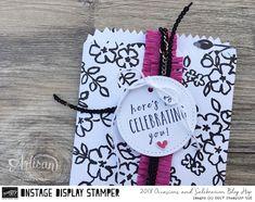 In The Cat Cave: Celebrating You: Perennial Birthday, Mini Treat Bag Thinlits, Stitched Shapes Frameits Stampin' Up! Display Stamper Blog Hop Day Six