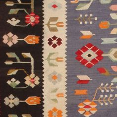 View this item and discover similar for sale at - Bessarabian Kilim, Romania, First Quarter of the Century - This wonderful antique Bessarabian kilim has a whimsical, colorful and distinctly Romanian Showcase Design, Repeating Patterns, Carpet Runner, Rugs On Carpet, Scandinavian Rugs, Whimsical, Bohemian Rug, Weaving, Textiles