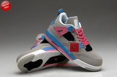 Grey/Pink/Blue AIR JORDAN 4 RETRO Outlet L6QGPC
