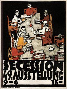 Egon Schiele - Secession Poster (1918)