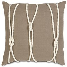 Nautical Yacht Knots Throw Pillow. Would look lovely in a coastal cottage living room or beach themed bedroom.