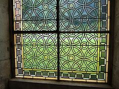 Monastery Window, Burgundy, France - inspiration for DIY fake stained glass windows?