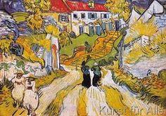Vincent van Gogh - Weg und Treppe in Auvers