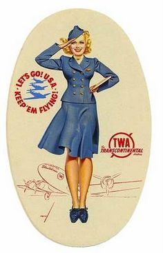 Flight Attendents called Stewardesses at that time.