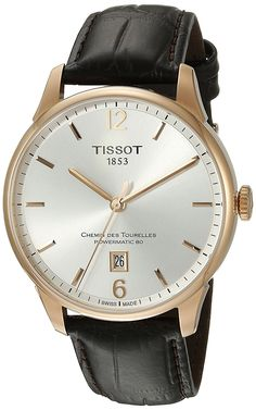 Amazon.com: Tissot Men's T0994073603700 Chemin Des Tourelles Powermatic 82 Analog Display Swiss Automatic Brown Watch: Watches