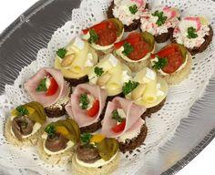 Kanapky - jednohubky | Kanapky - malá mísa | Občerstvení Praha | kanapky, jednohubky, dorty, chlebíčky, pohoštění, catering