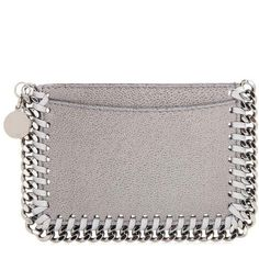 Stella McCartney Falabella Card Holder (315 CAD) ❤ liked on Polyvore featuring bags, wallets, grey, wallets & cases, card holder wallet, stella mccartney wallet, stella mccartney, card carrier wallet and stella mccartney bags