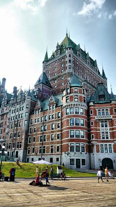 Quebec, Canada, Chateau Frontinac...LLBB , see the turret facing forward, one room to the right was the one I stayed in. Hosted by a company. It was SO old world and glorious.