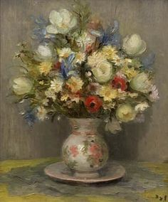 Marcel Dyf (French, 1899–1985) Title: Poem in Repose Medium: Oil on canvas Size: 28.75 x 23.5 in.