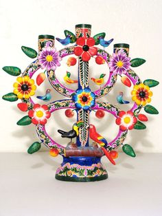 Trendy Tree Of Life Mexican Frida Kahlo Mexican Crafts, Mexican Folk Art, Mexican Style, Latino Art, Tree Of Life Art, Mexican Ceramics, Day Of The Dead Art, Mexico Art, Mexican Designs