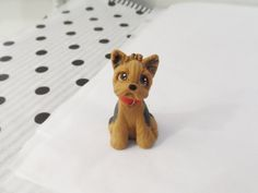 Yorkshire Terrier polymer clay Dog Sculpture Clay by by theWRC