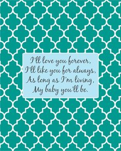 Free printable baby nursery sign. Makes a great baby shower gift!