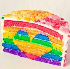 Rainbow Heart Cake!