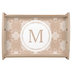Custom Toasted Cashew Floral Pattern Serving Tray