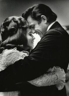 Beautiful image of Johnny Cash and the love of his life - June Carter Cash...
