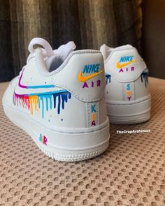 Nike Shoes OFF! ►► Behind The Scenes By thecreparchitect Custom Painted Shoes, Custom Shoes, Custom Af1, White Nike Shoes, Vans Shoes, Nike Shoes Air Force, Aesthetic Shoes, Cute Sneakers, Hype Shoes