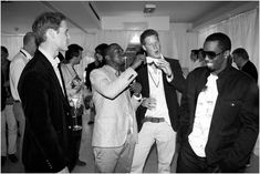 Le Prince William, Kanye West, le Prince Harry et P.Diddy