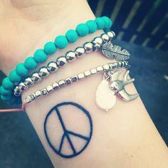 Peace Tattoo Hippie Bracelets <3