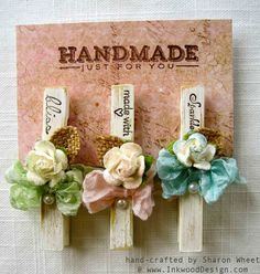 Designs by Sharon: Message Clip Clothes Pegs, Clothes Crafts, Diy Craft Projects, Diy Crafts For Kids, Homemade Gifts, Diy Gifts, Decorated Clothes Pins, Clothespin Art, Altering Clothes
