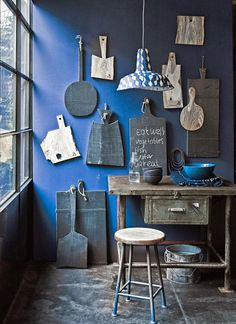 Blue interior wall