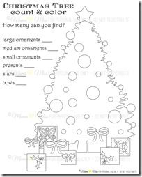 Count & Color Christmas Tree {mama♥miss}