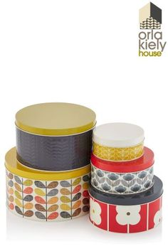 Buy Set Of 5 Orla Kiely Multi Stem Cake Tins from the Next UK online shop