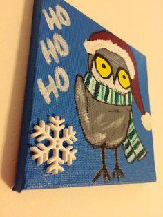 Ho Ho Ho Owl  Christmas decor festive fun by JennsCoolStuff