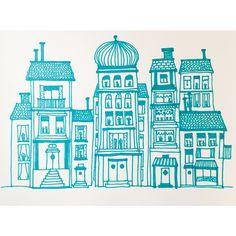 21/365, 2016 | Tid: 1 h | #micaelawernberg #illustration #staden #hus #house #grön #linjer #urban #town #green #promarker #handdrawn #lines #city #organic #pattern #drawing #artoftheday #drawingoftheday #enomdan2016 #project365 #oneaday2016 #bookbindersdesign #365project