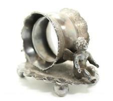 Antique 19c Wilcox Victorian Silver SP Double Cherub Figural Napkin Ring
