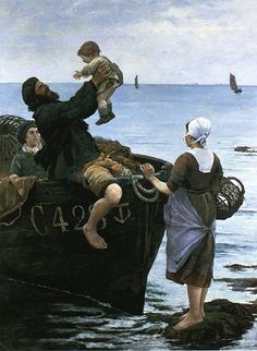 """Emma Lowstadt Chadwick painting, """"Off To Sea"""""""
