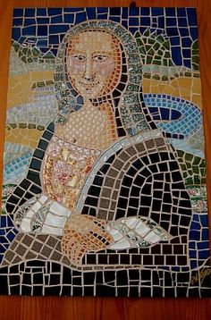 Mosaic Mona Lisa, Pop art, Collage art.