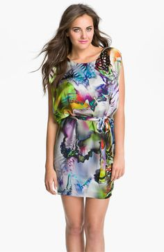 Suzi Chin for Maggy Boutique Print Blouson Charmeuse Dress available at Nordstrom