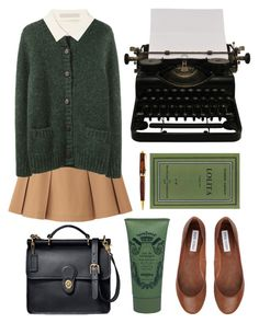 """""""Untitled"""" by hanaglatison ❤ liked on Polyvore featuring Uniqlo, Band of Outsiders, Jason Wu, Coach, Sisley Paris, Steve Madden and Mont Blanc"""