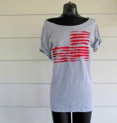 WobiSobi: Off the shoulder Flag Shirt, DIY